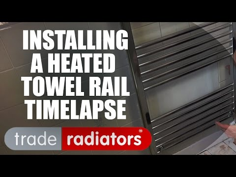Installing A Towel Rail   A Timelapse Video