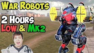 War Robots 2 Hours Fun Gameplay & #MyWarRobot Winners   Low & Mk2