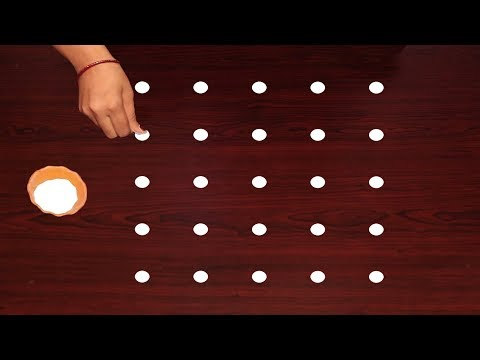 Deepam Rangoli Designs By 5X5 Dots Latest Muggulu Videos Well Rangoli Collections