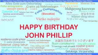 Johnphillip   Languages Idiomas - Happy Birthday
