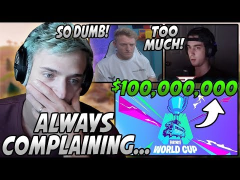 """Ninja Reacts To Tfue & Cloak COMPLAINING That The """"World Cup"""" Is For Too Much MONEY!"""