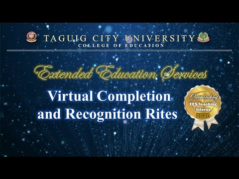 Extended Education Services Virtual Completion And Recognition Rites 2020