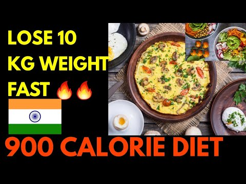 How to Lose 10 kg Weight Fast ?🔥🔥 900 calories Indian Diet plan to reduce fat