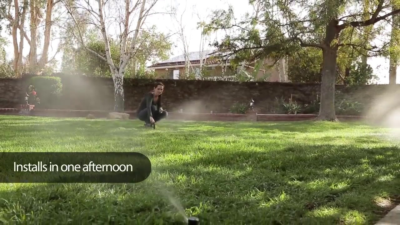 rain bird easy to install automatic sprinkler system youtube