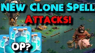 New Clone Spell Attacks (Live FC Replays) - Clash of Clans Update Clone Spell - New COC Update 2017