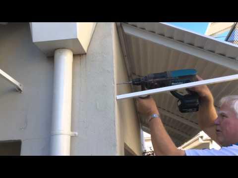 Bahama Fixed Metal Awning Installation