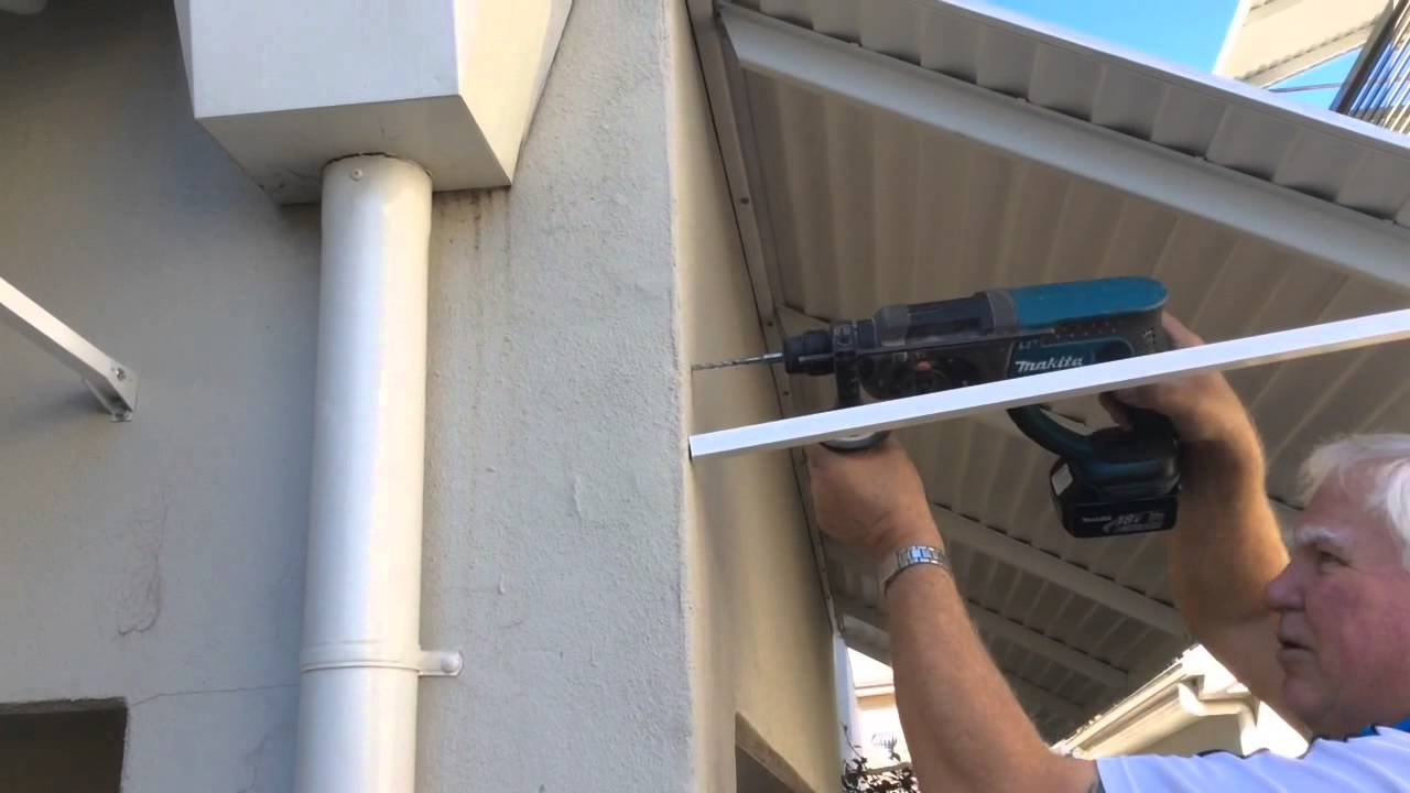 Bahama Fixed Metal Awning Installation Youtube