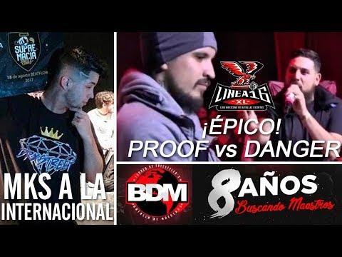 DANGER vs PROOF - ÉPICA BATALLA en LÍNEA 16   MKS a la INTERNACIONAL en Perú - SMC   8 AÑOS de BDM