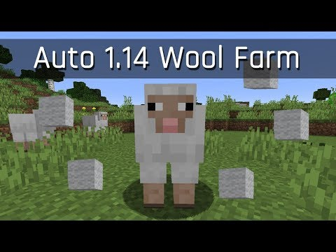 Automatic Wool Farm (AFK) | Minecraft 1.14