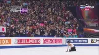 2014年世界選手権、羽生結弦選手のフリー・スケートのブリティッシュ・...