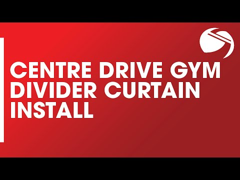 Centre Drive Gym Divider Curtain Install