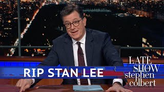 Colbert Remembers Stan Lee: Thanks For The Stories