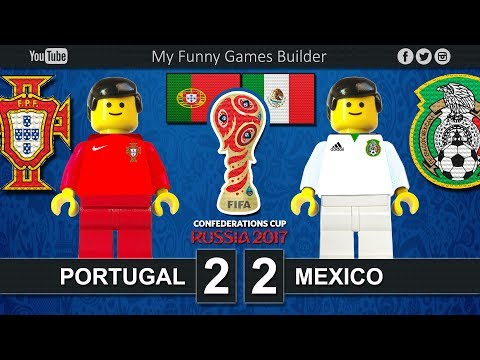 Portugal vs Mexico 2-2 • FIFA Confederations Cup Russia 2017 • 17/06/2017 • Lego Football Film