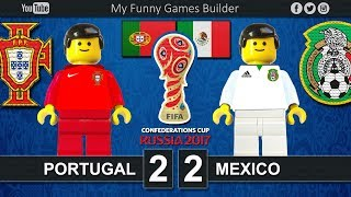 Portugal vs Mexico 2-2 • Confederations Cup Russia 2017 • 17/06/2017 • Lego Football Film
