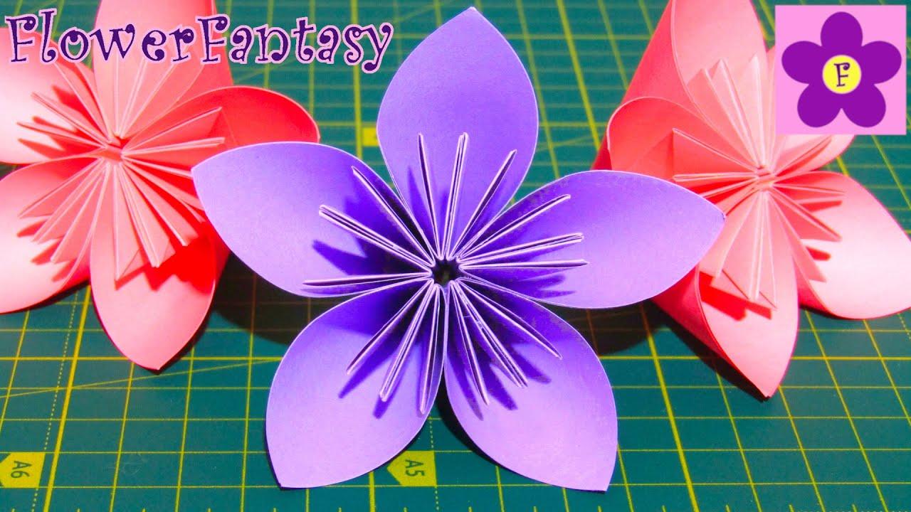 Цветы из бумаги своими руками/оригами - YouTube