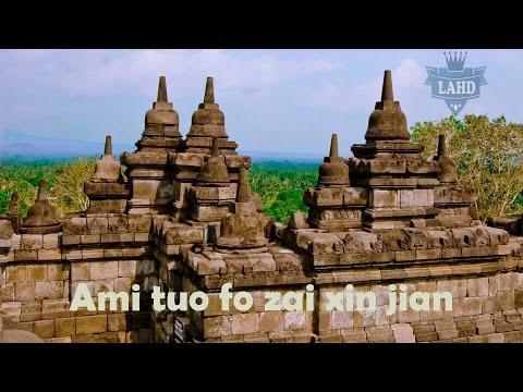 Ami Tuo fo zai xin jian HD Lirik (Indo dan english sub)