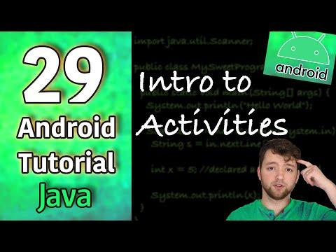 Android App Development Tutorial 29 - Intro to Activities | Java thumbnail