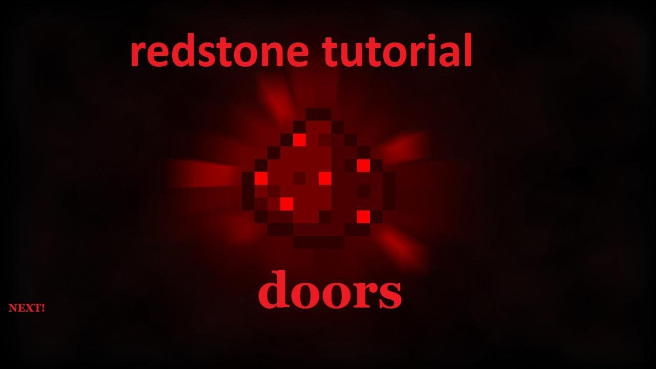 How To Make A Red Stone Door In Minecraft Youtube