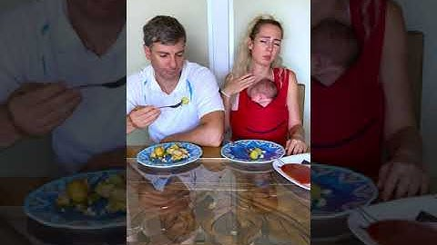Caring husband wants to feed his wife 😂