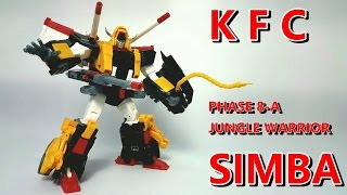 Transformers KFC PHASE 8-A JUNGLE WARRIOR SIMBA (MP style VICTORY LEO) 廣東話Review