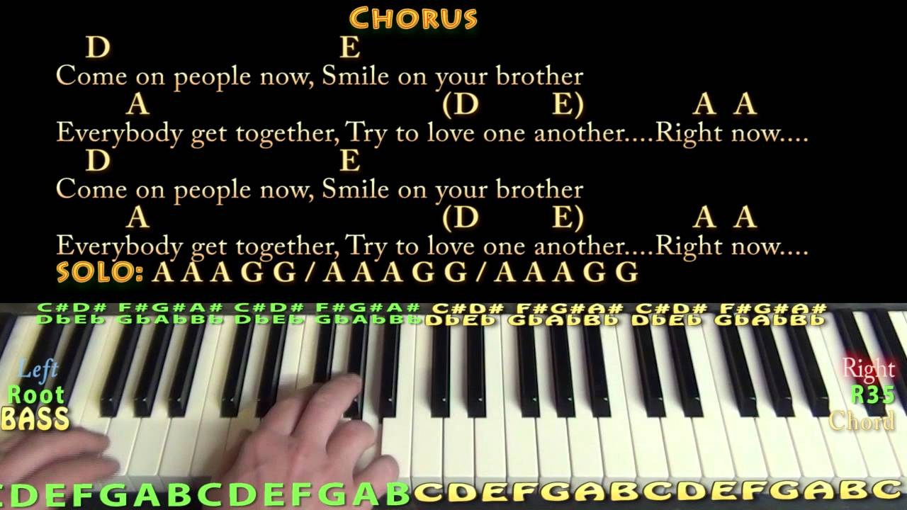 Get Together The Youngbloods Piano Cover Lesson With Chordslyrics
