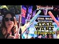 New Lightsaber Star Wars Churros At Disneyland! Dark Side Red Or Light Side Blue Colors!