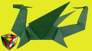 Оригами Дракон. Как сделать дракона из бумаги своими руками. Поделки из бумаги.(Учимся рукоделию! Как сделать дракона из бумаги! Дракон оригами своими руками! Всё поэтапно и доступно кажд..., 2016-01-30T21:18:20.000Z)