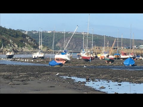 Watch At Low Water In Fishguard Harbour And Stena Ferry, West Wales UK