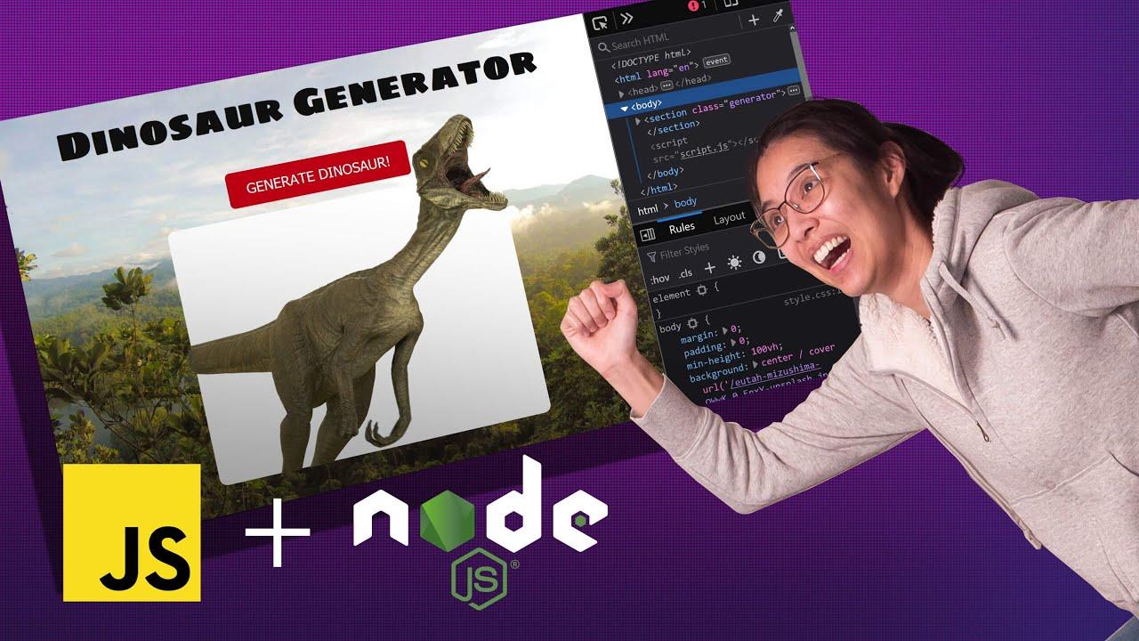 Building a Node.js app (as a JavaScript noob) |  🔴 LIVE CODING