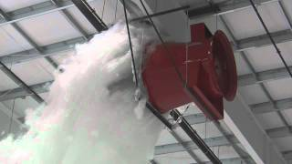 Aircraft Hangar Foam Fire Suppression Test - Prince George.wmv