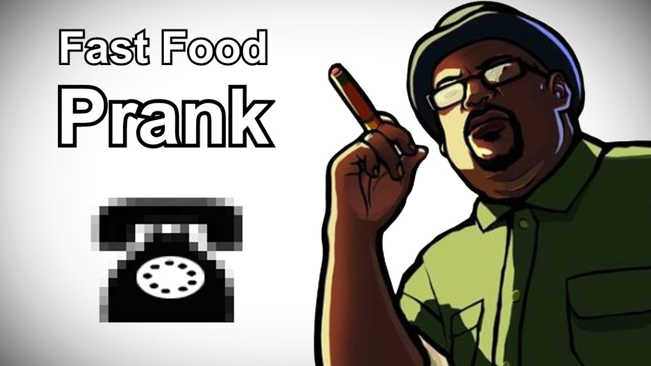Big Smoke Calls McDonalds - Grand Theft Auto Prank Call