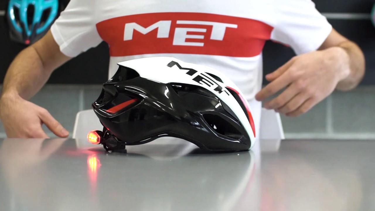 Black//White//Red MET Rivale 2017 Road Racing Cycling Biking Crash Helmet