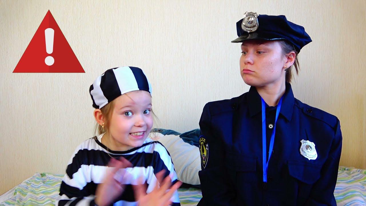 Лера и полицейский рассказывают детям правила поведения на улице