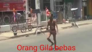 Video lucu habis orang gila joget di pohon pisang