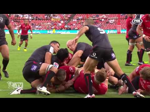 St.George Queensland Reds v Lions scoring plays
