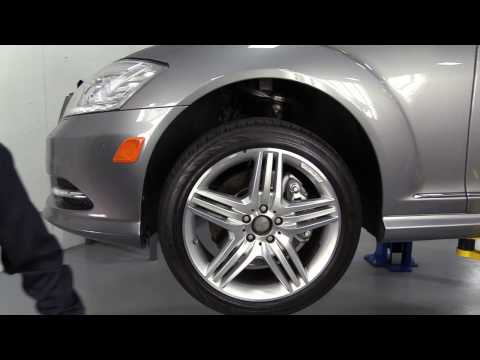 replacing mercedes benz w221 s-class w/airmatic w/o 4matic front air strut  with a new arnott strut - youtube