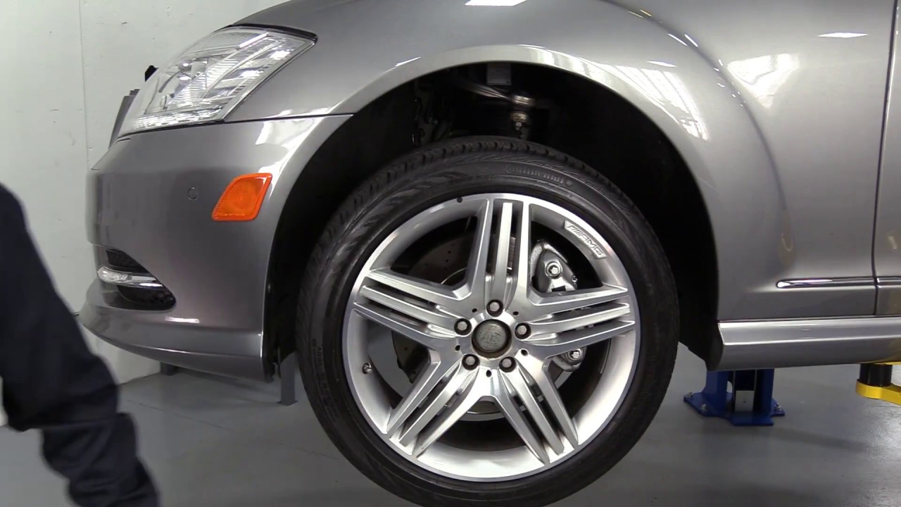 replacing mercedes benz w221 s-class w/airmatic w/o 4matic front air strut  with a new arnott strut