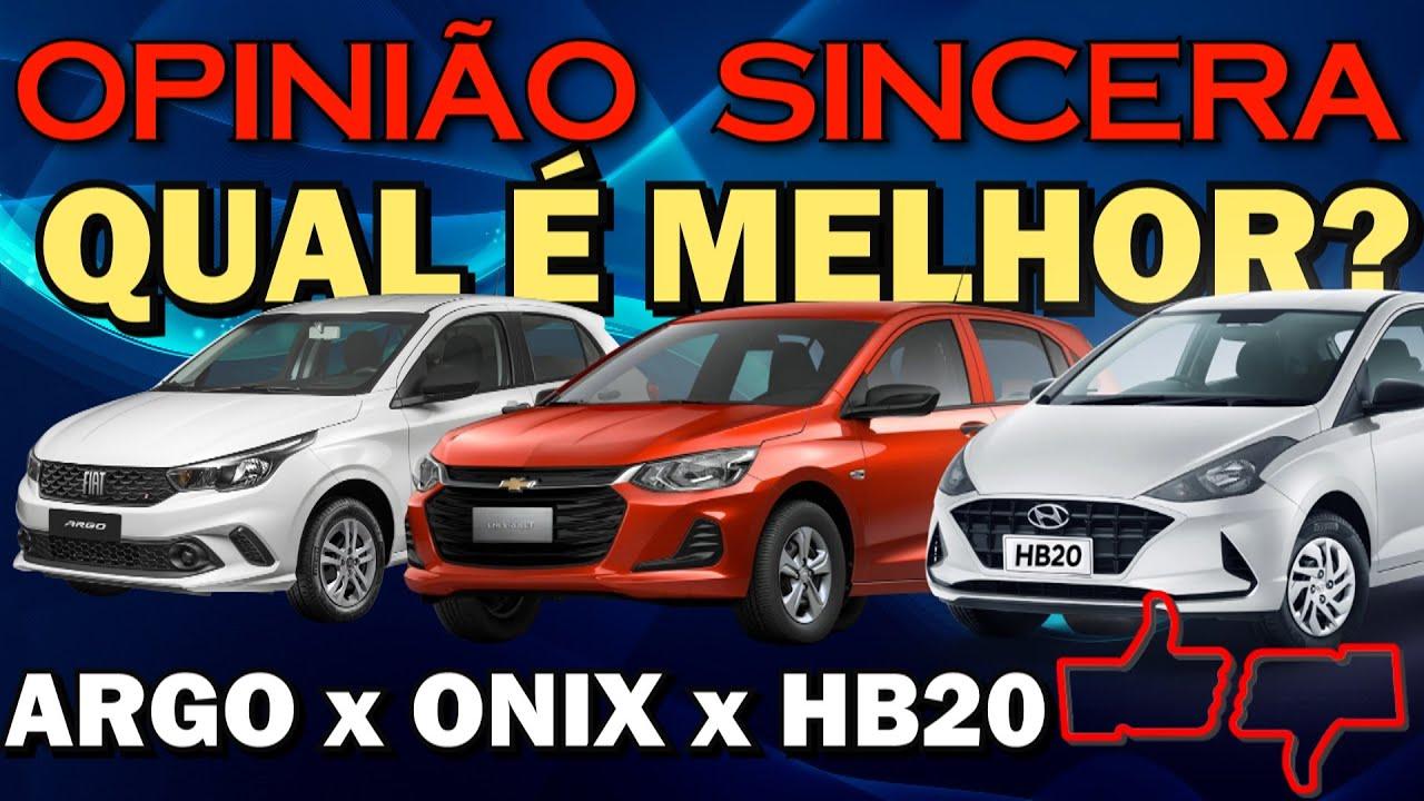 Comparativo entre Onix, HB20 e Argo! Qual é o melhor hatch compacto na versão de entrada?
