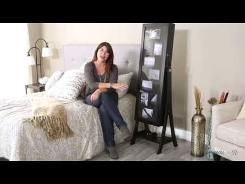 Belham Living Lighted Photo Cheval Jewelry Armoire - Black - Product Review Video