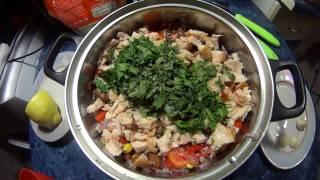 Салат из копченой курицы , фасоли и кукурузы / salad of smoked chicken , beans and corn