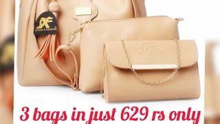 Unboxing of combo hand bags by Flipkart Women Beige Hand-held Bag