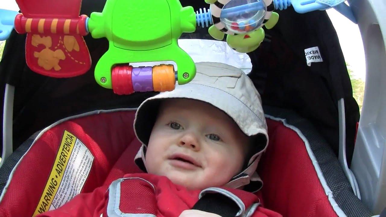 Baby Garrett 7 Months Old in Car Seat - YouTube
