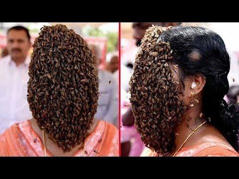 Женщина с Пчелами на Лице! 22 Невероятных Случая С Животными #3