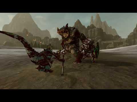 Gor-Rok & Nakai VS Malekith & Kroq-Gar | The Hunter & The Beast | Total War: warhammer 2 |