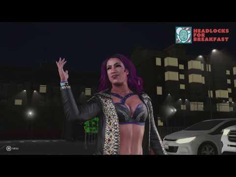 WWE 2K19 Gameplay Parking Lot - Alexa Bliss vs Sasha Banks vs Bayley   WWE 2K19 Xbox One X Gameplay