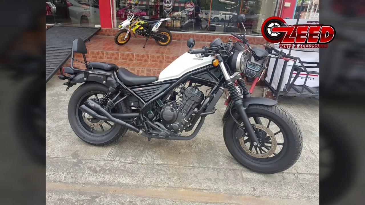 honda rebel cmx 300 500 diablo custom works twin pipe slip on exhaust