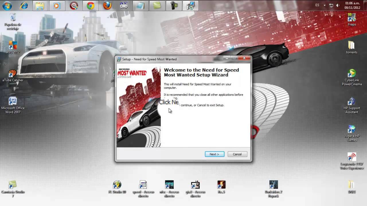 Como descargar he instalar need for speed most wanted 2 for Juego nfs most wanted