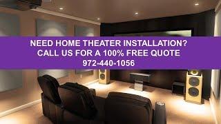 Home Theater Installation Dallas Tx 972-818-5512 Home Audio Installation Dallas Tx