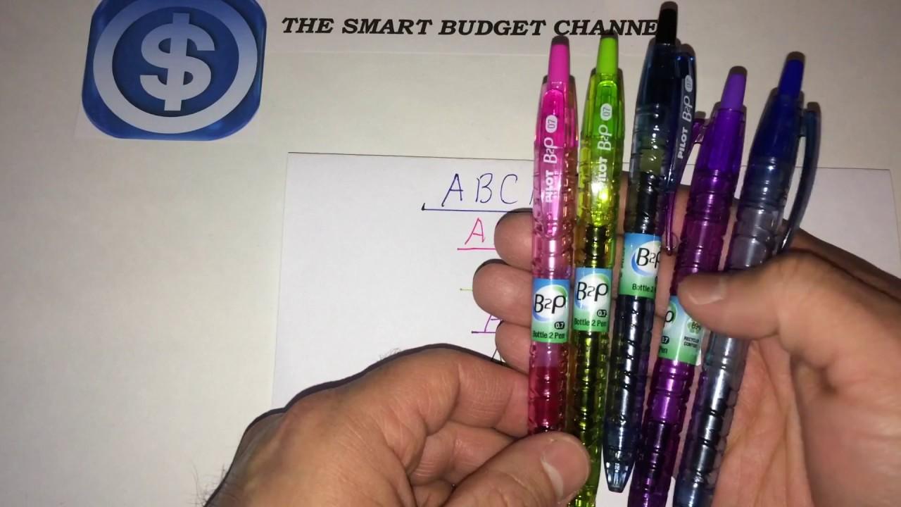 Pilot b p bottle pen assorted mm gel pen review walmart
