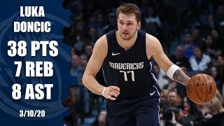 Luka Doncic drops a dominant game-high 38 in Mavericks vs. Spurs | 2019-20 NBA Highlights